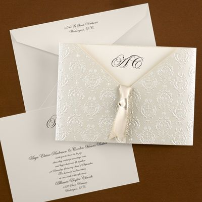Baroque Detail Vintage Invitation - Vintage Wedding Invitation Ideas - Vintage Wedding Invites