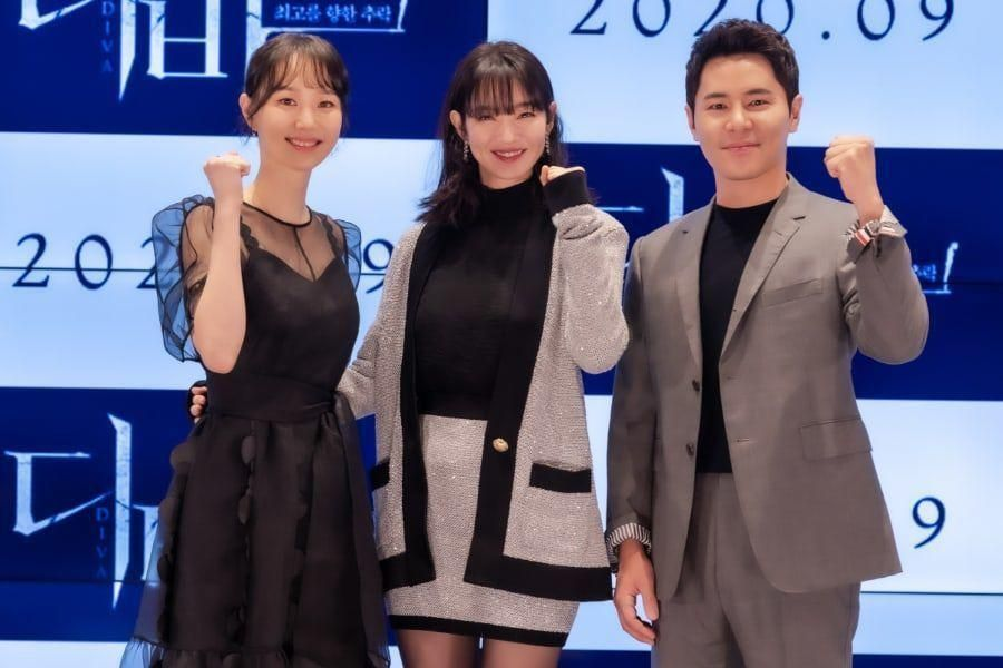 """Shin Min Ah, Lee Yoo Young, And Lee Kyu Hyung Talk About Training For Their Film """"Diva,"""" Their Unique Characters, And More"""