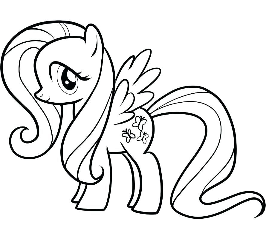 Coloriage My Little Pony Fluttershy My little pony