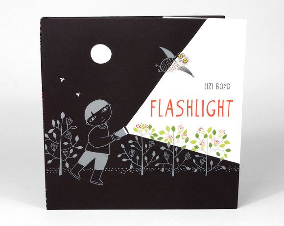 Told solely through images and using a spare yet dramatic palette, artist Lizi Boyd has crafted a masterful exploration of night, nature, and art.   Lizi Boyd - Flashlight