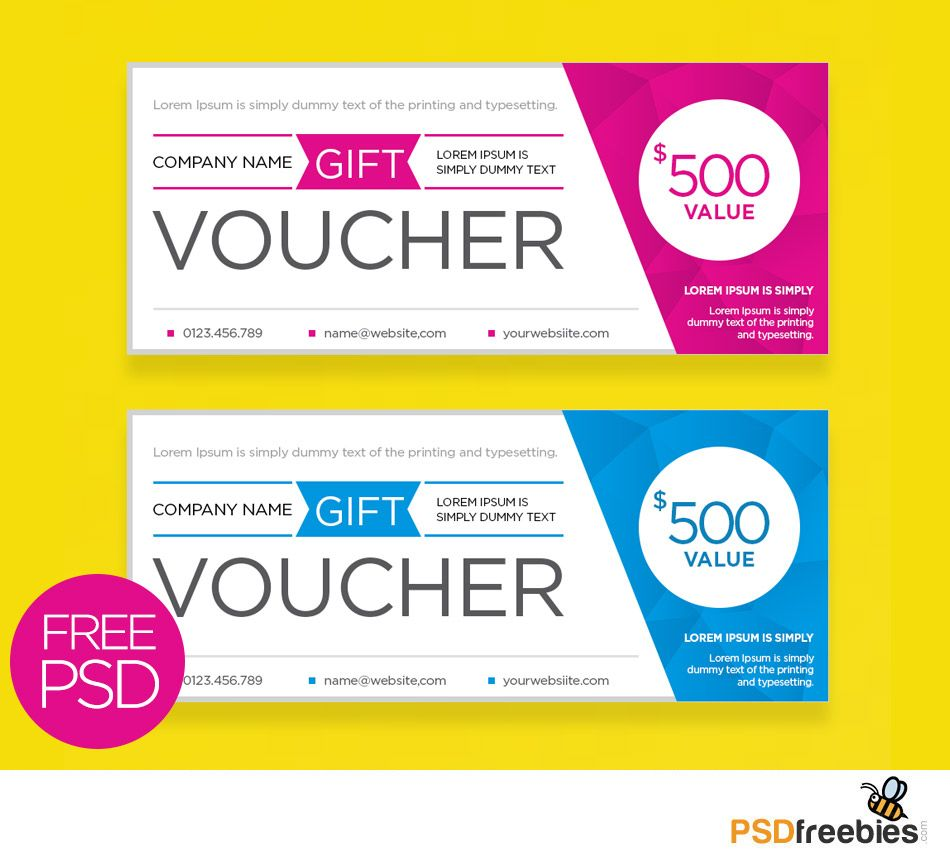 Clean and modern gift voucher template psd gift