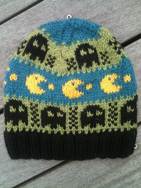 Gaming Knitting Patterns Pac Man Knitting Patterns And Knit Patterns