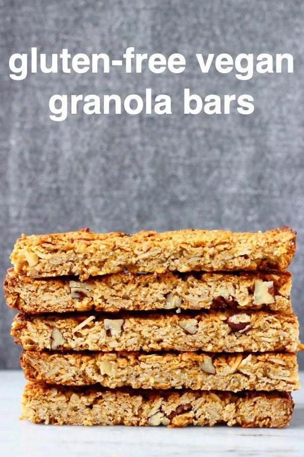 These Vegan Granola Bars are chewy, nutty and perfectly satisfying. They're great for breakfast, dessert or a snack! Gluten-free, dairy-free, oil-free and refined sugar free.
