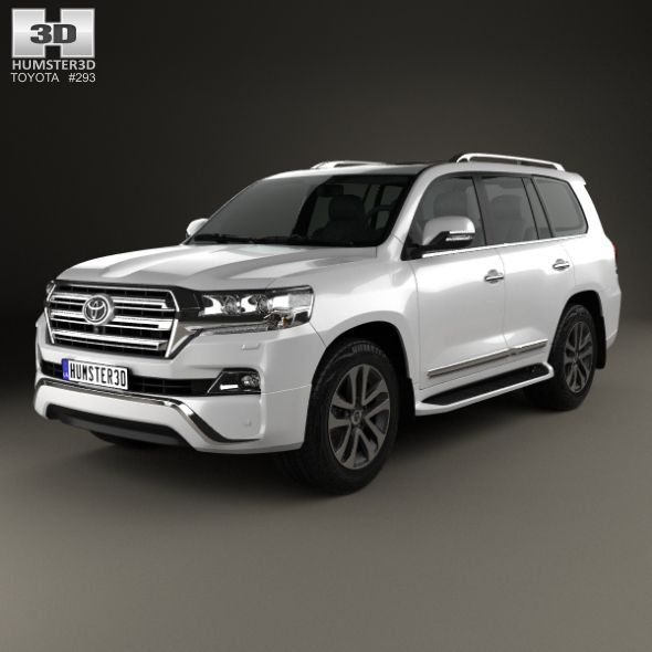 Toyota Suv Crossover: Toyota Land Cruiser VXR 2016. Fully Editable And Reusable