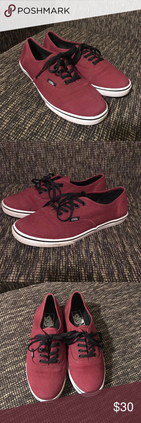 e0d1c2e2bba Maroon Vans Size 8 Great condition maroon colored Vans. Super adorable and  comfortable. Best