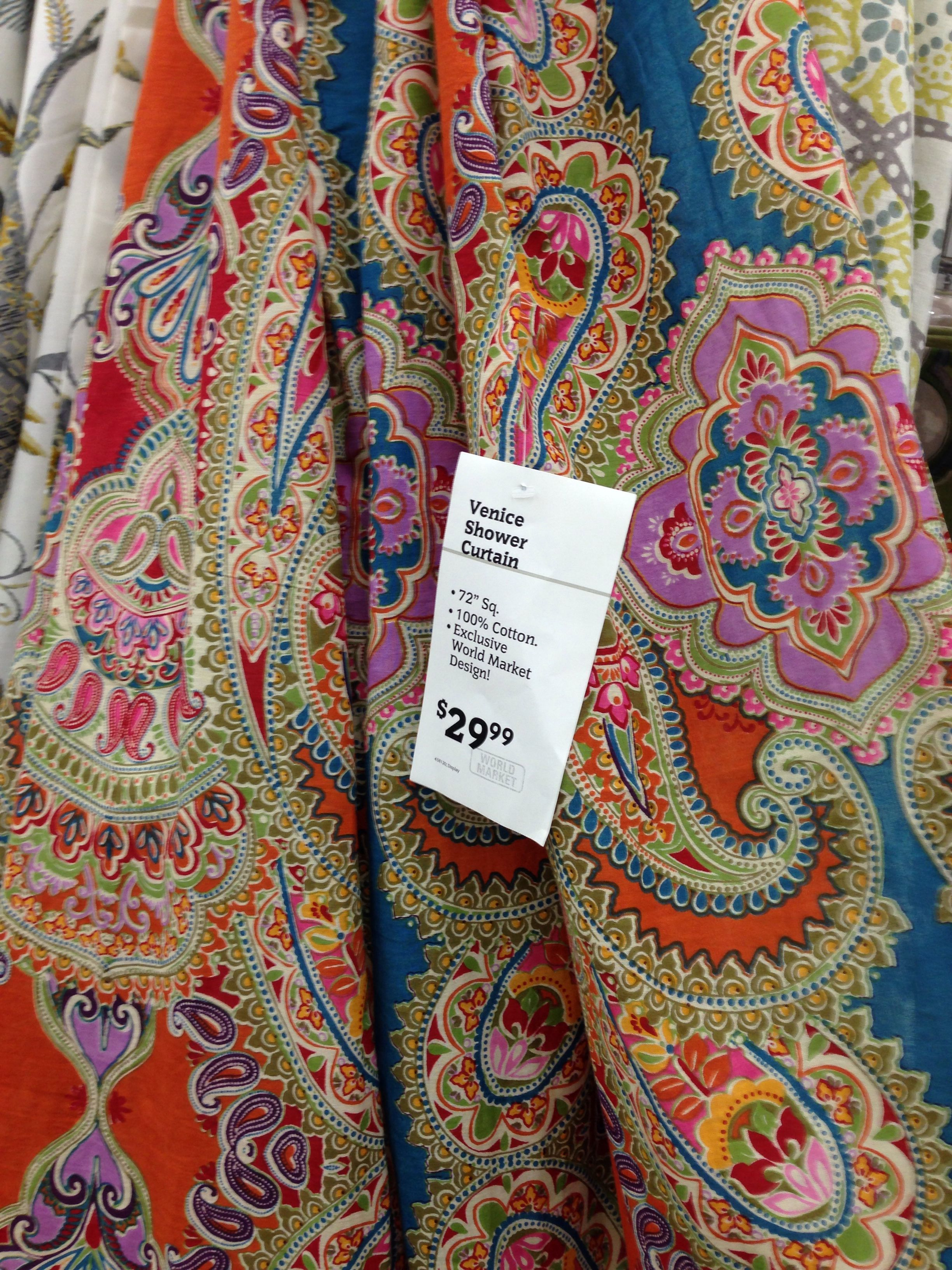Cute Paisley Shower Curtain By World Market Love It Paisley
