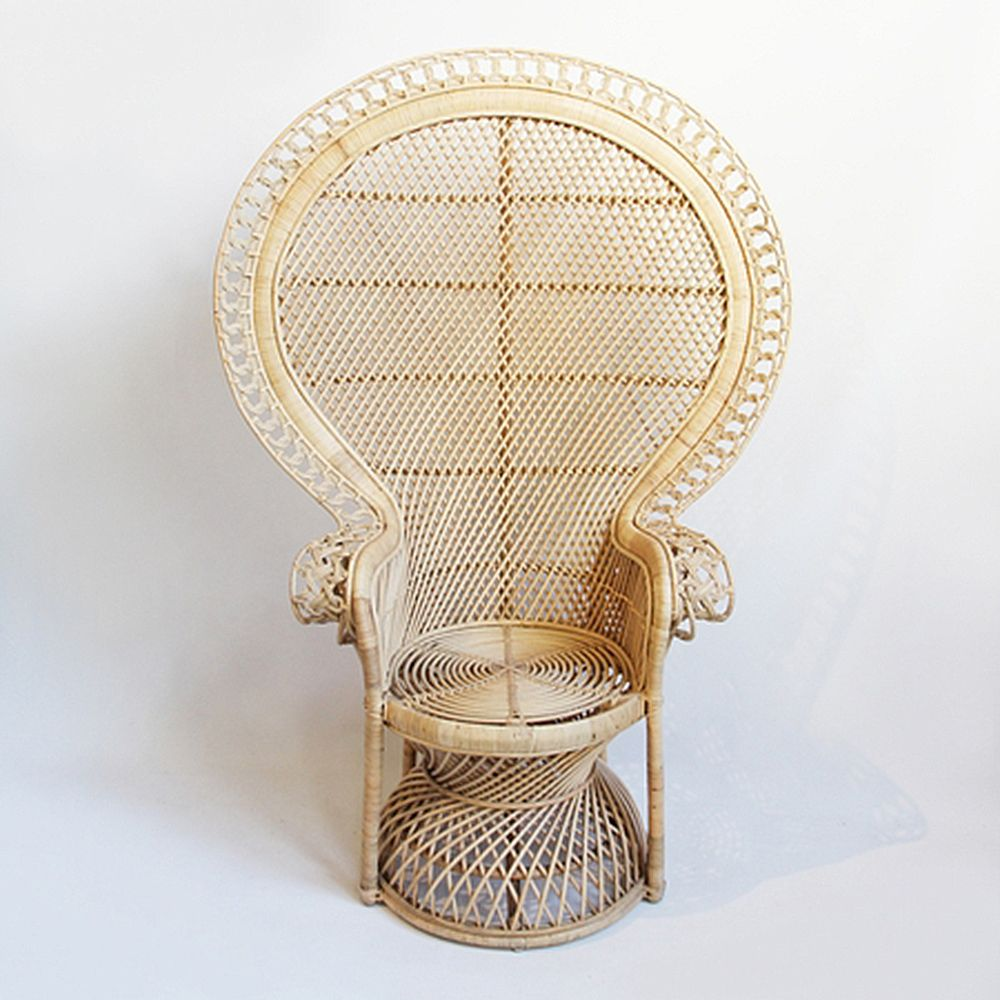 Hand Crafted Rattan Loop Peacock Chair Beautiful Raw Colonial