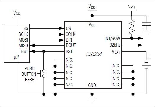 This real-time clock IC with integrated crystal is