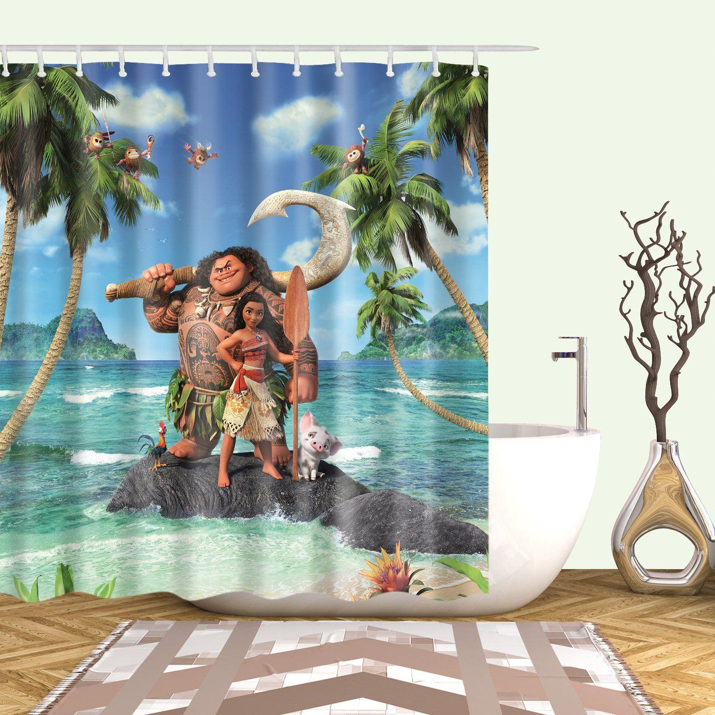 Vivid Color Maui Moana Shower Curtain Curtains Vivid Colors Shower
