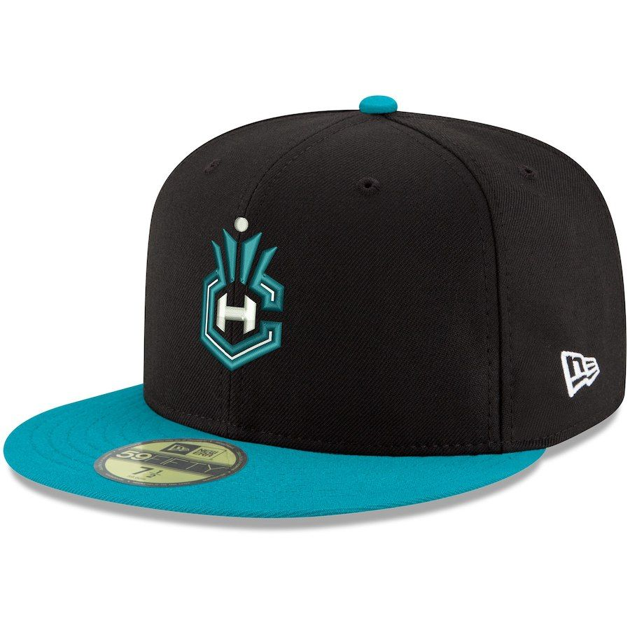 529e04954ec Men s Charlotte Hornets New Era Black 2Tone 59FIFTY Fitted Hat