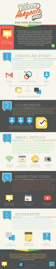 Use #Google #Hangouts for business with this guide. #infographic