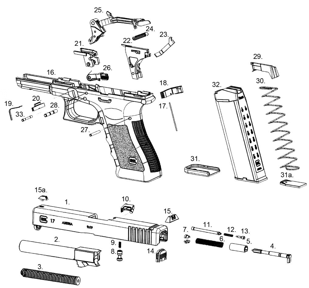 glock parts list weapons pinterest guns weapons and survival rh pinterest com glock parts diagram photo glock parts list for certified armorers