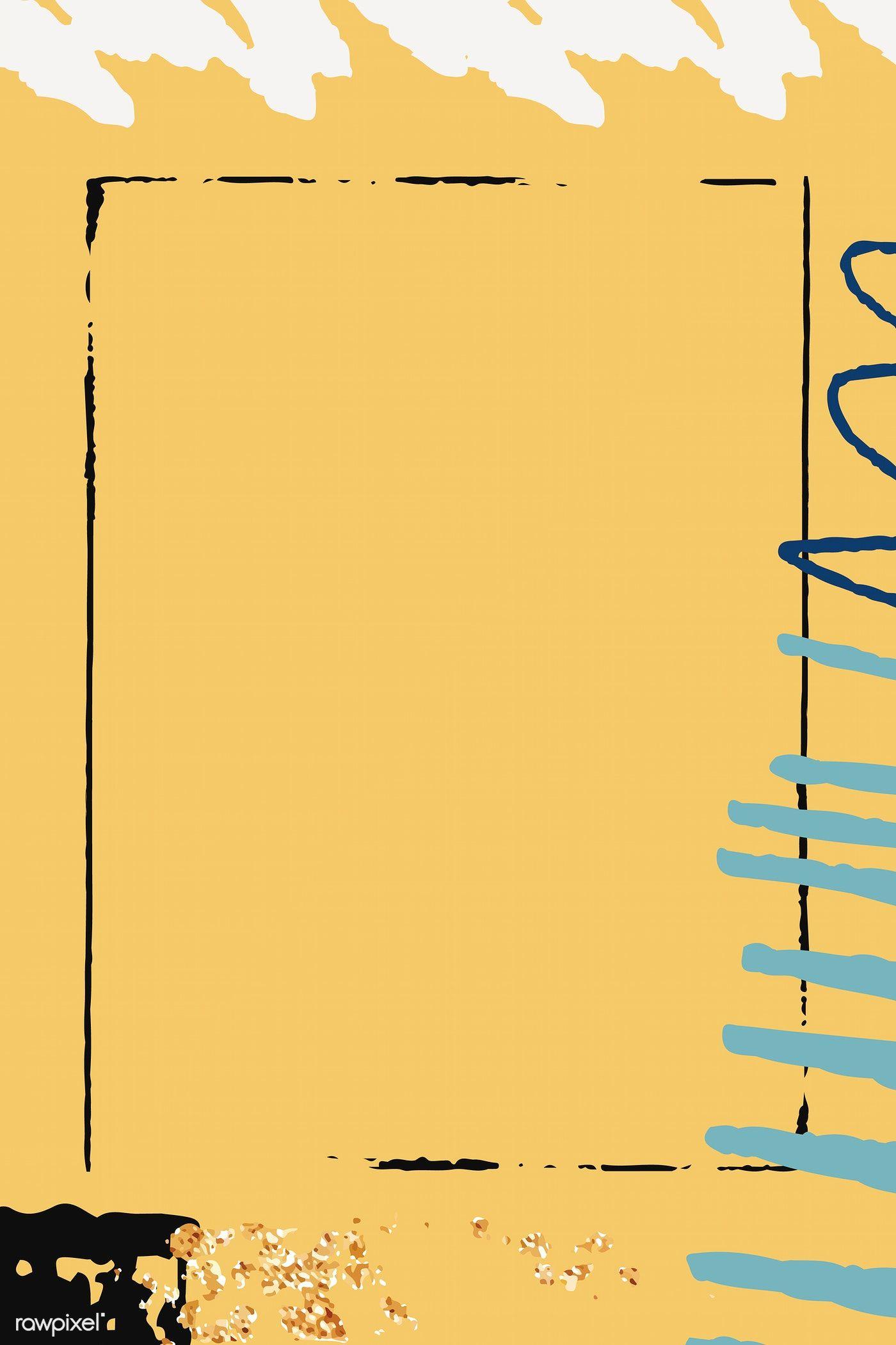 Download Premium Vector Of Yellow Scribble Patterned Background Vector Vector Background Pattern Background Patterns Powerpoint Background Design