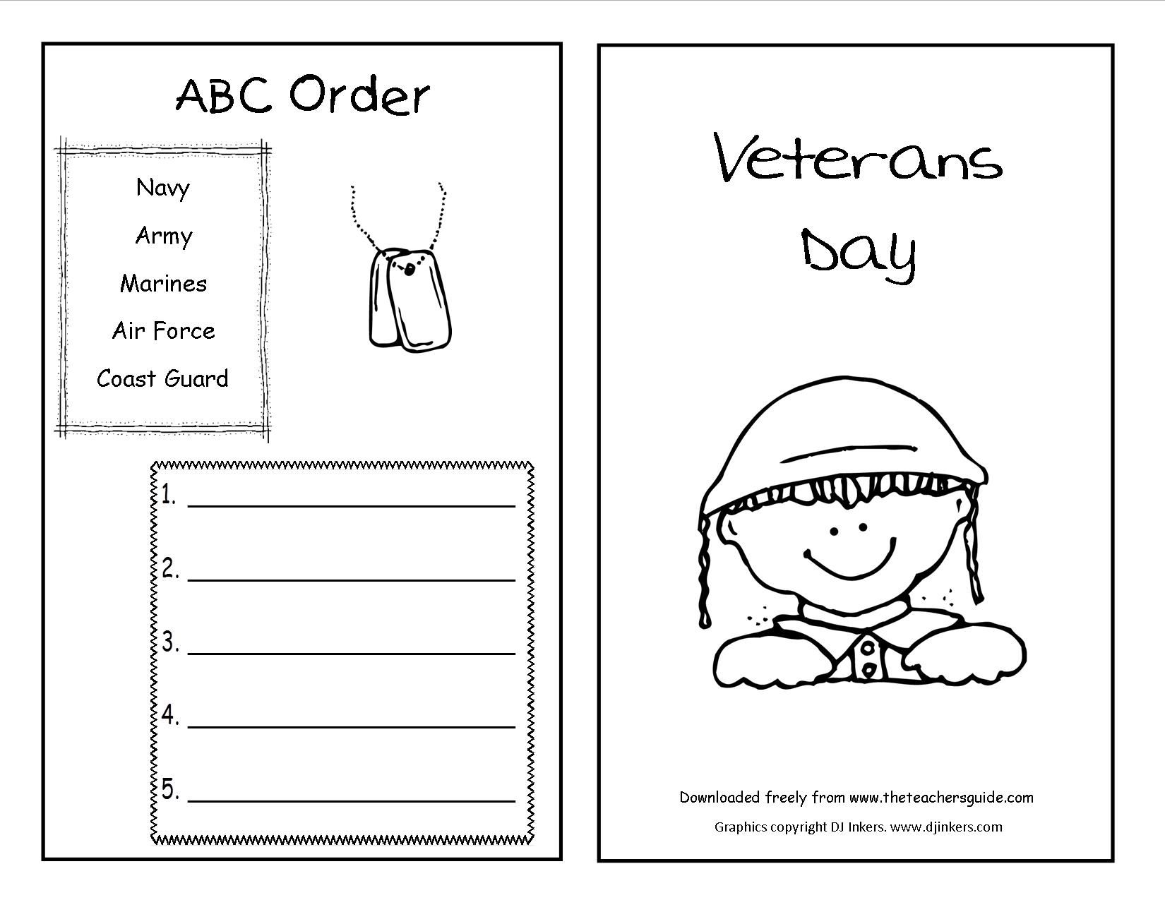 Dramatic Veterans Day Worksheets Printable