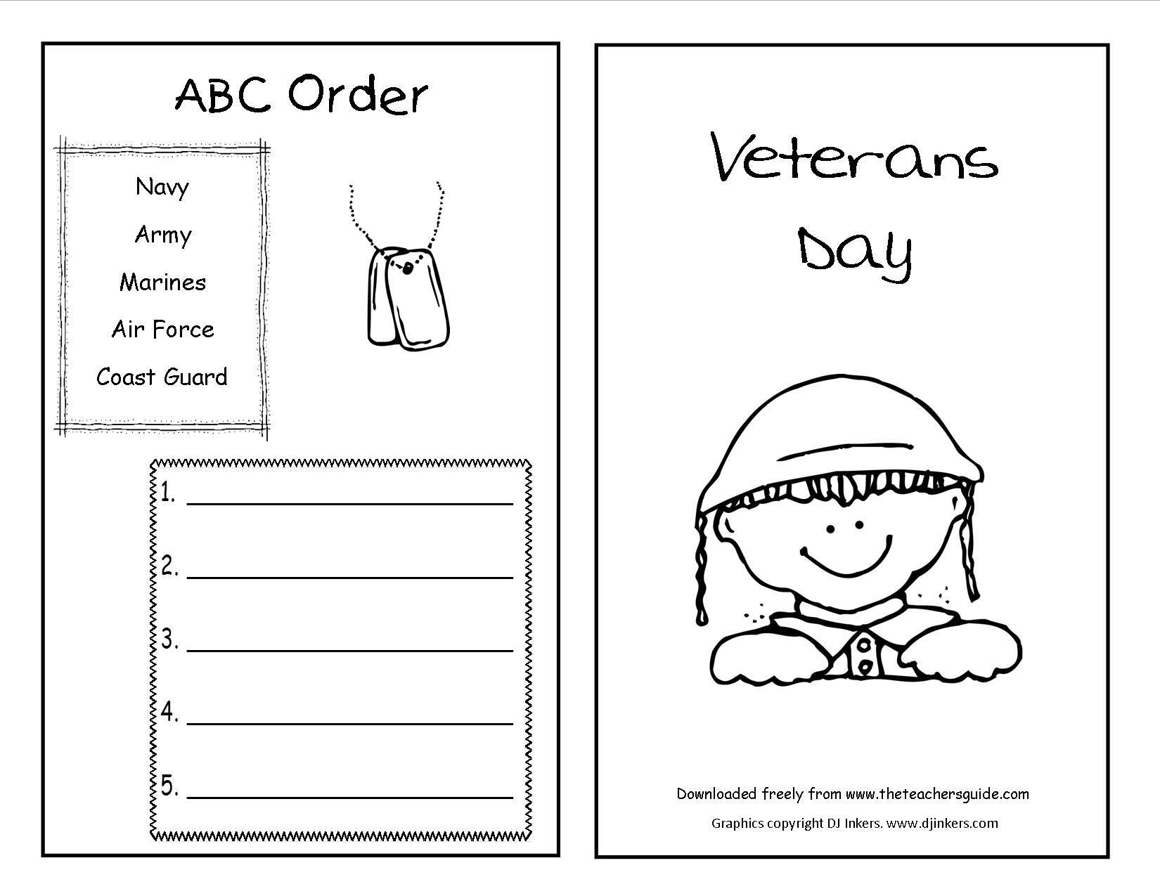 Dramatic Veterans Day Worksheets Printable