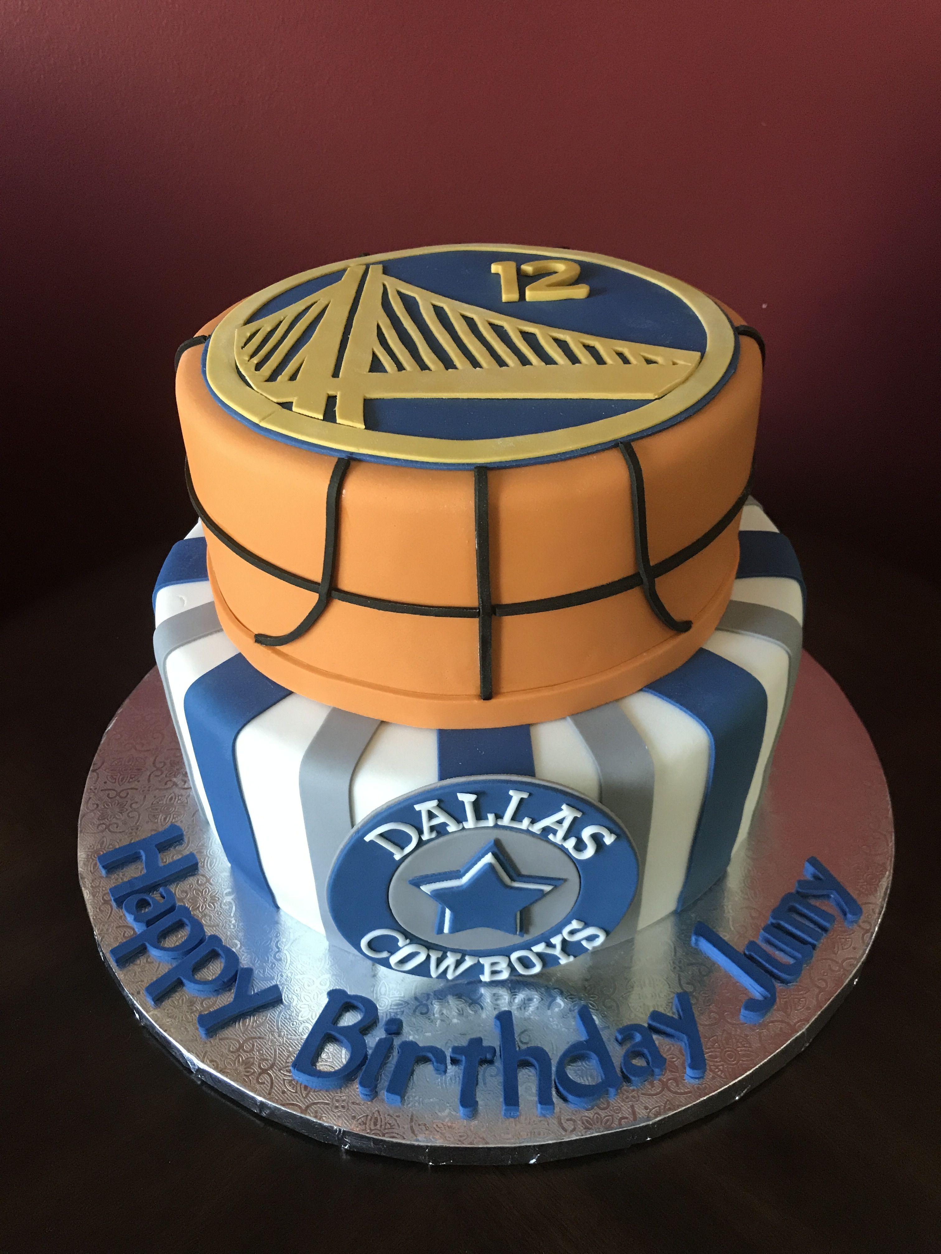 Golden State Warriors Dallas Cowboys Birthday Cake Birthday Cakes