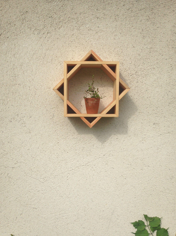 Star Shaped Wooden Shelf Etagere Etoilee En Bois Design