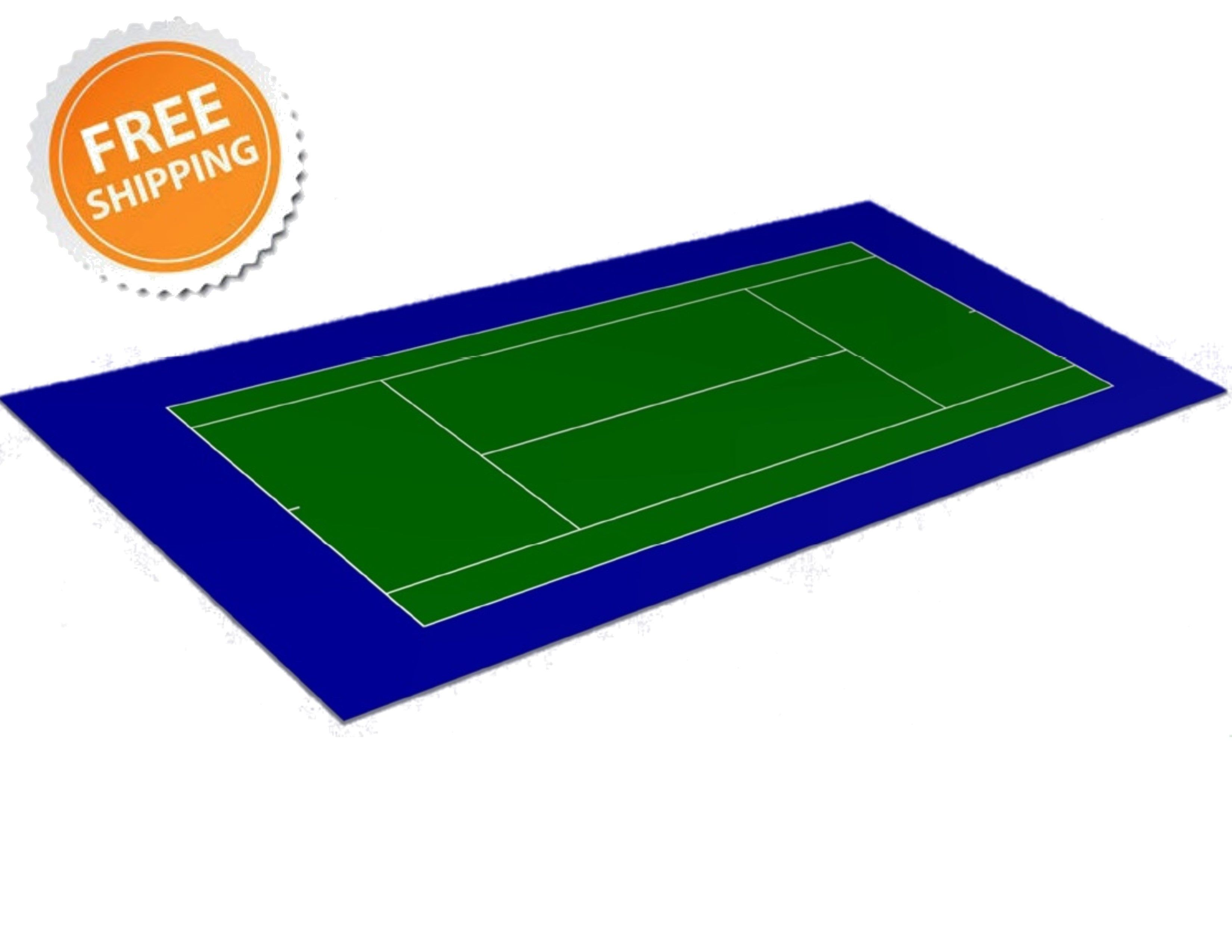 Single 60x120 Tennis Court Tennis Court At Home Gym Aerobic Flooring