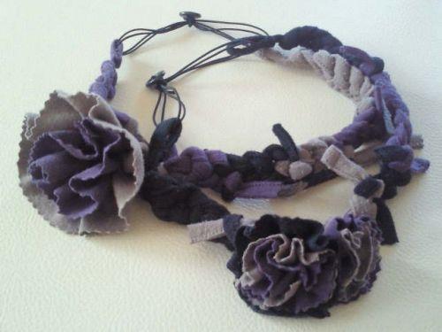 リメイク!!指編みお花のカチュームの作り方|その他|ファッション小物(印刷用)| 手芸レシピ16,000件!みんなで作る手芸やハンドメイド作品、雑貨の作り方ポータル「アトリエ」