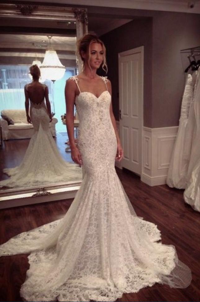 65811f449215 Lace Wedding Dresses,Modest Wedding Dresses,Mermaid Wedding Dresses,Summer  Wedding Dresses