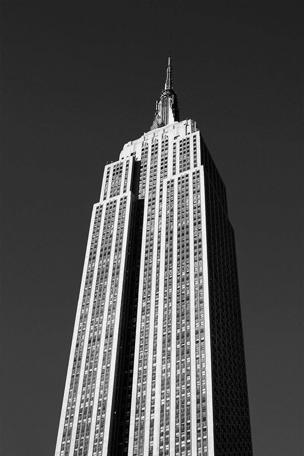 The Empire State Building - New York - The beautiful night - vintage ...