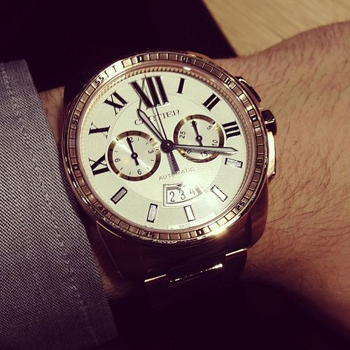 6a504f1be74  Cartier  Calibre  Chronigraph  watch solid  gold  watchporn  instawatches   ablogtowatch  sihh
