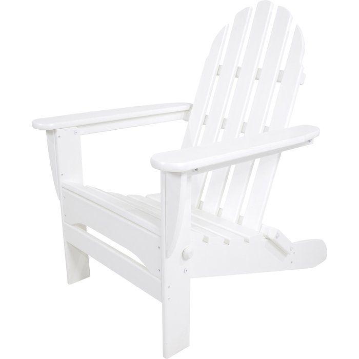 Classic Plastic Adirondack Folding Chair Furniture
