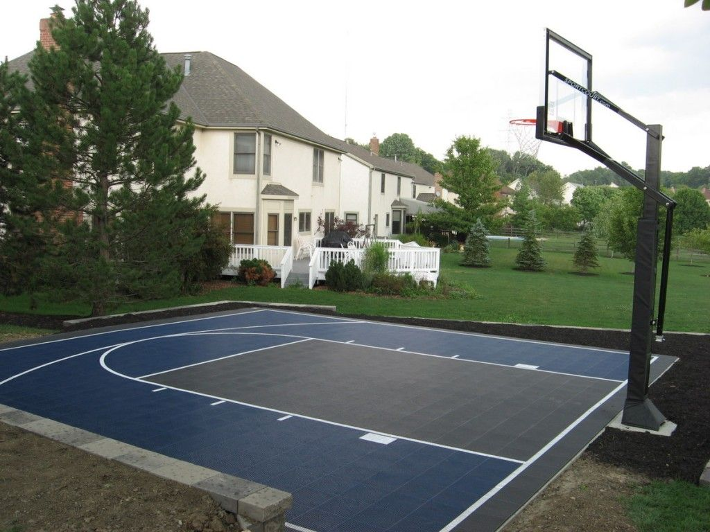 Pictures of outside basketball courts basketball courts for Backyard sport court ideas