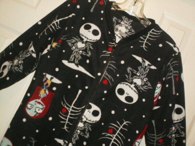 juniors womens teens medium 79 disney nightmare before christmas footed pajamas disney