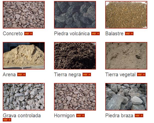 Venta de agregados para construcci n piedra volc nica concreto arena tierra vegetal y m s - Piedras para construccion ...