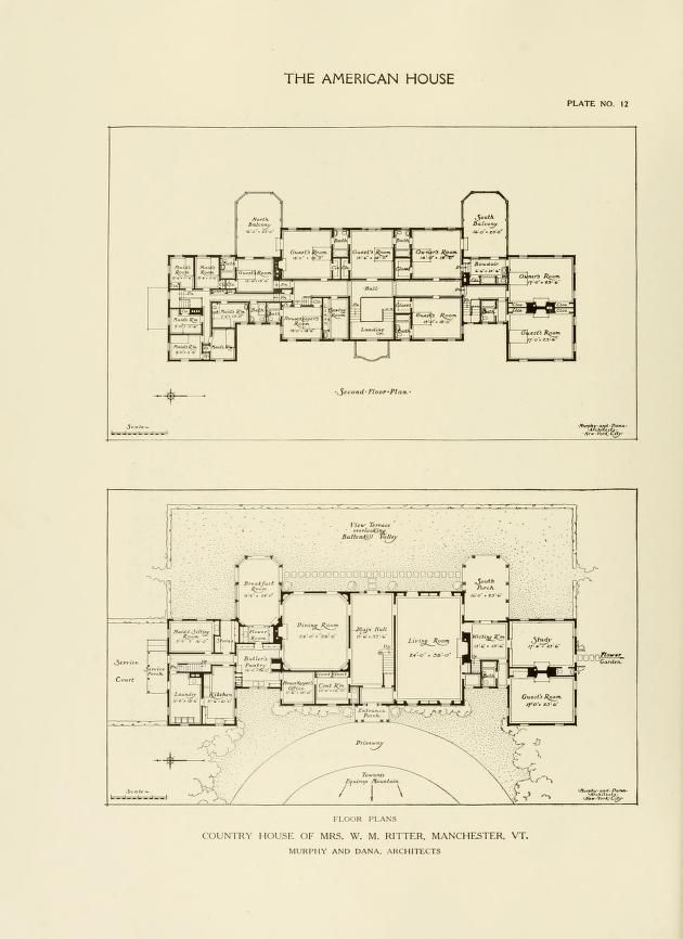 The American House Being A Collection Of Illustrations Plans Of The Best Country Suburban Houses Built In T American House How To Plan Vintage House Plans American house floor plan