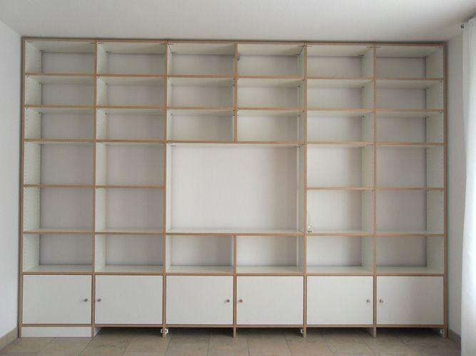 regal weiss regalwand klapptueren stuttgart esszimmer. Black Bedroom Furniture Sets. Home Design Ideas
