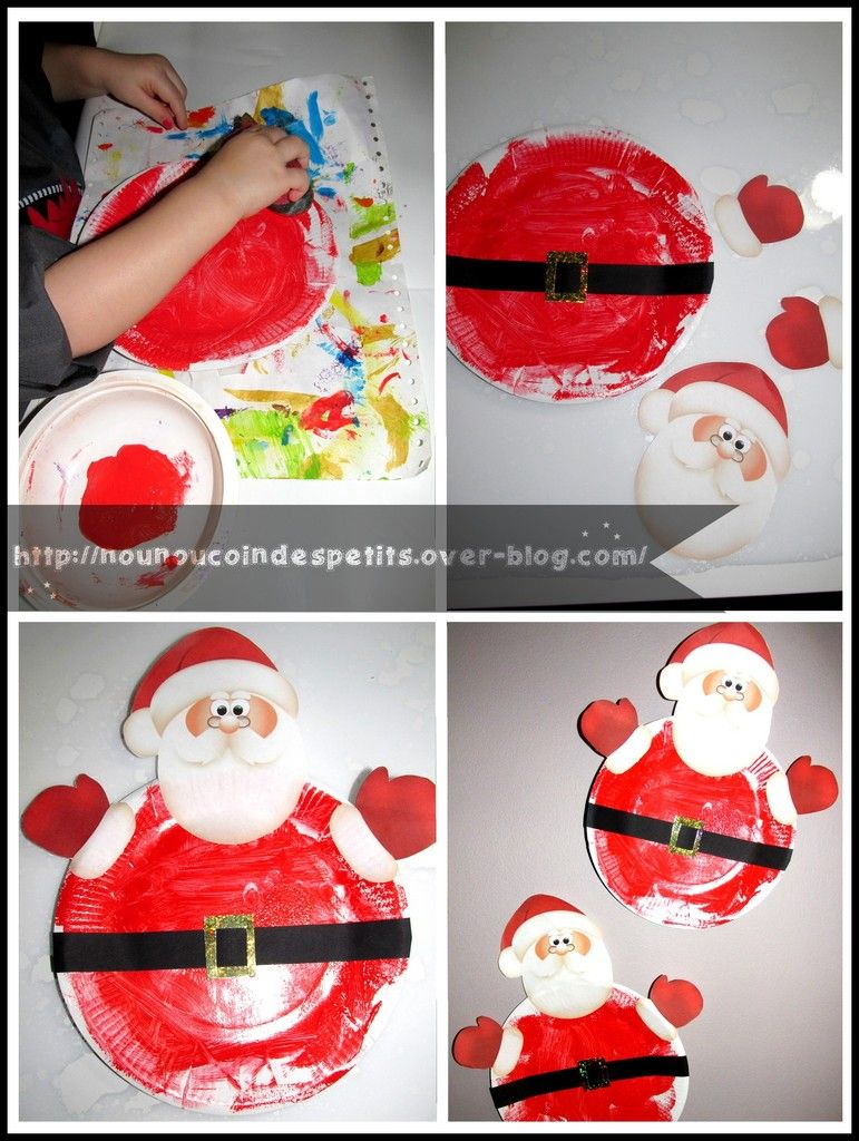 P re noel assiette en carton crafts pinterest noel assiette carton et carton - Pere noel maternelle ...