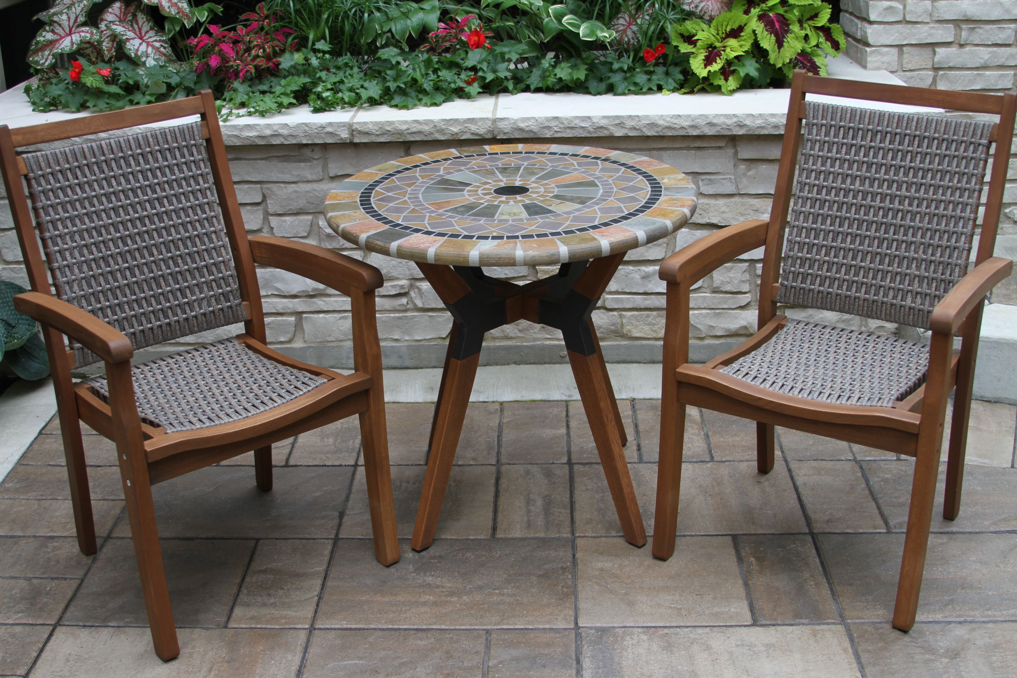 Sandstone Slate Mosaic Bistro Table Top