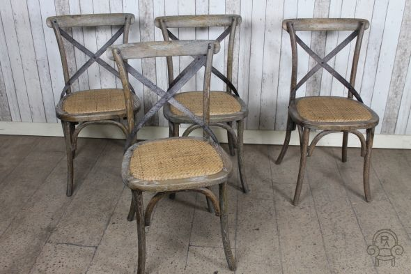 An Aged Distressed Oak Dining Chair With Rattan Seat From Our Bentwood Seating Range A Twist On Clic Ideal For Kitchen Restaurant Or Cafe