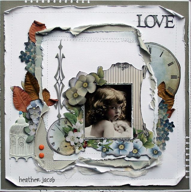 Love...beautiful vintage elements and distressing.