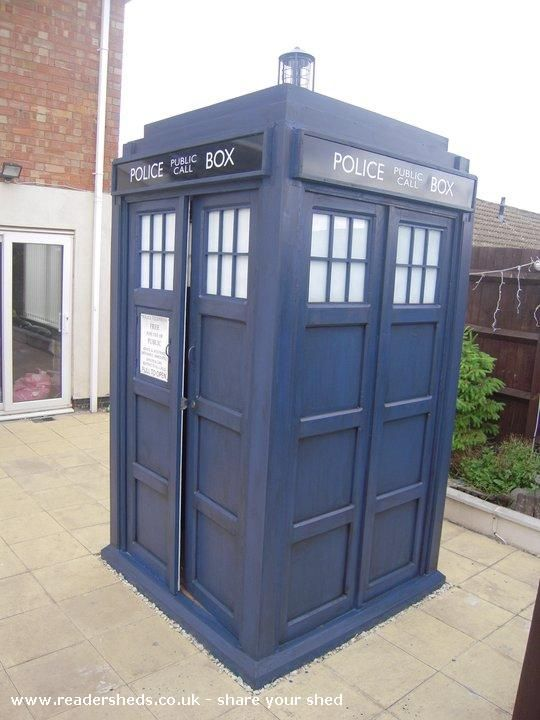 Garden Shed Lighting Ideas outdoor decor Tardis Garden Shed Lights Up