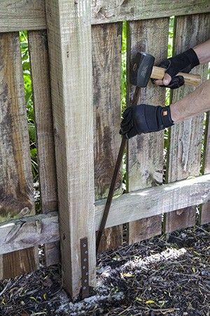 Fence Post Repair Fix It In 2019 Fence Post Repair Diy Fence