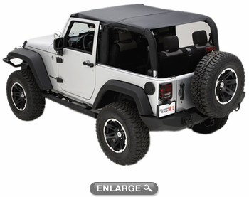 Jeep Wrangler Jk 2 Door Soft Top Island Topper W Pockets 2010 2018