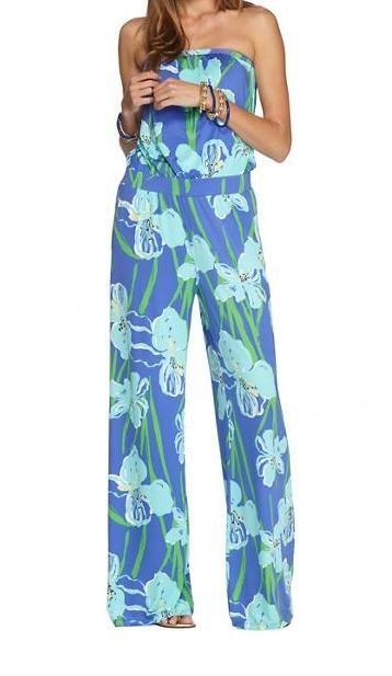 2f6b32e95e Lilly Pulitzer Kourtney Strapless Jumpsuit Love the iris print!  KKG ...