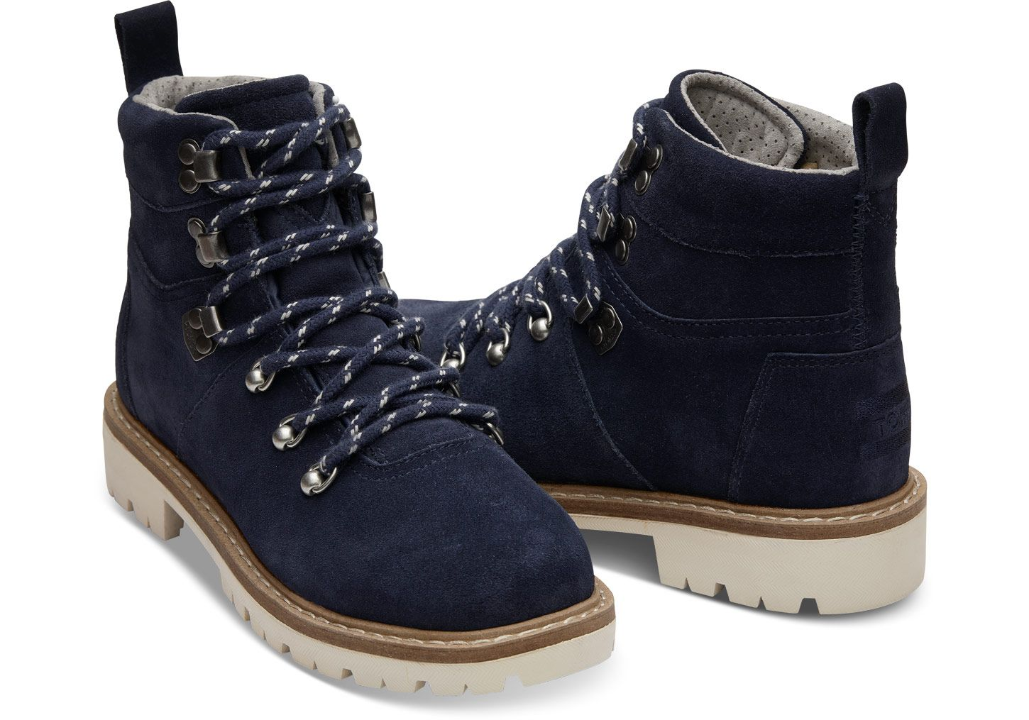 eac3b758677 Waterproof Navy Suede Women's Summit Boots | TOMS®️ | Shoes ...