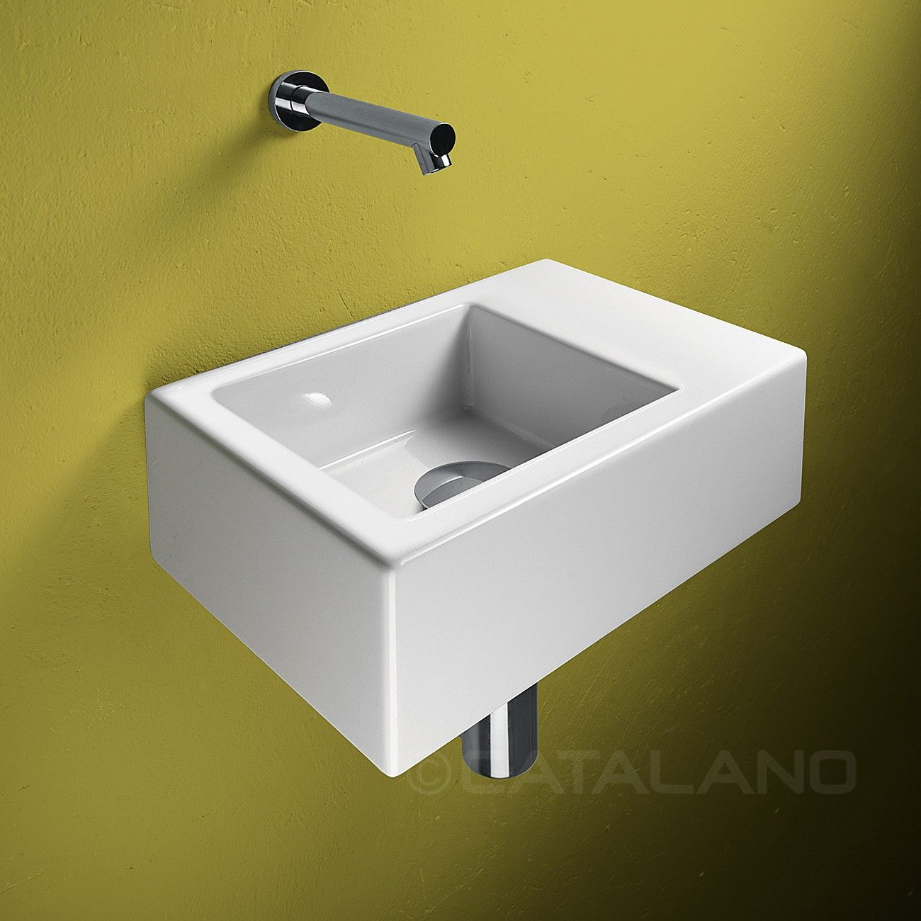 Catalano verso 350 x 250mm small cloakroom washbasin white bathroom discount w55 azienka - Slim cloakroom basin ...