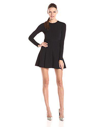 Bcbgeneration Womens Black Flareskirt Dress Continue To The