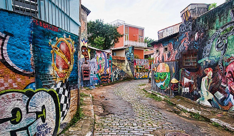 Sao Paulo Vila Madalena Beco Do Batman Beco Do Batman Artista De Rua Beco