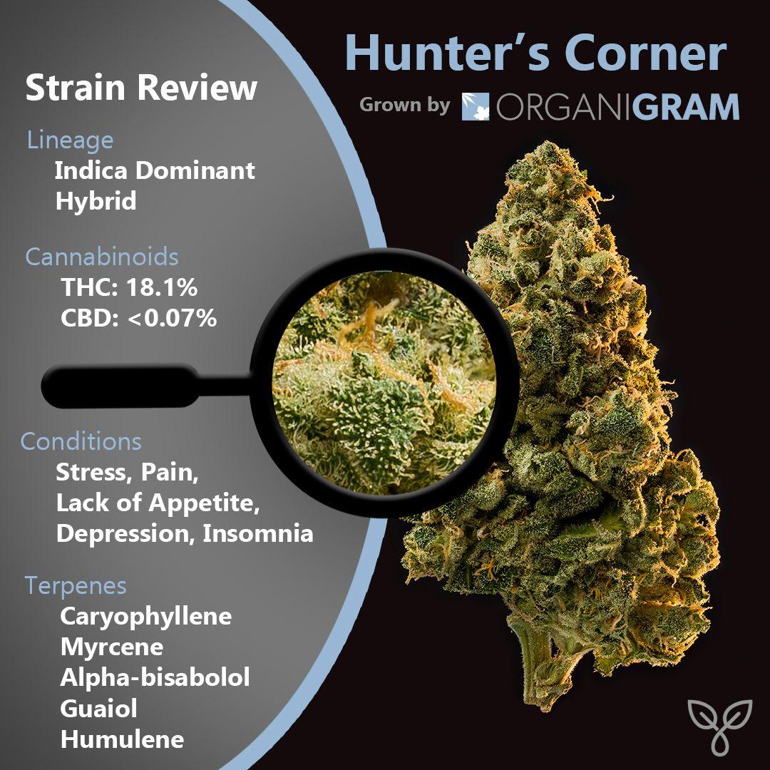 Strain Review - Hunter's Corner by OrganiGram   Weed
