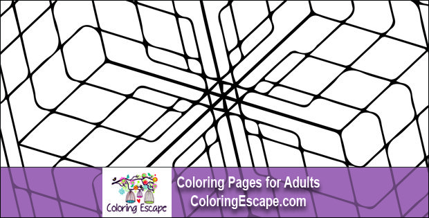3d Geometric Cube Coloring Page Free Adult Coloring Pages Adult