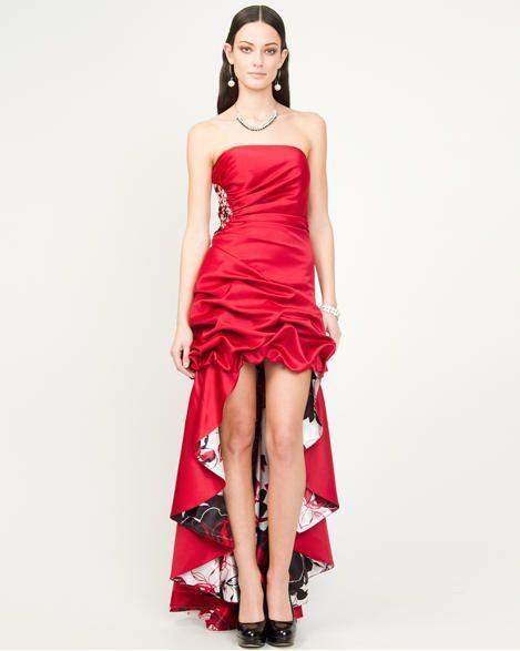 Le ChÂteau Fl Satin High Low Gown