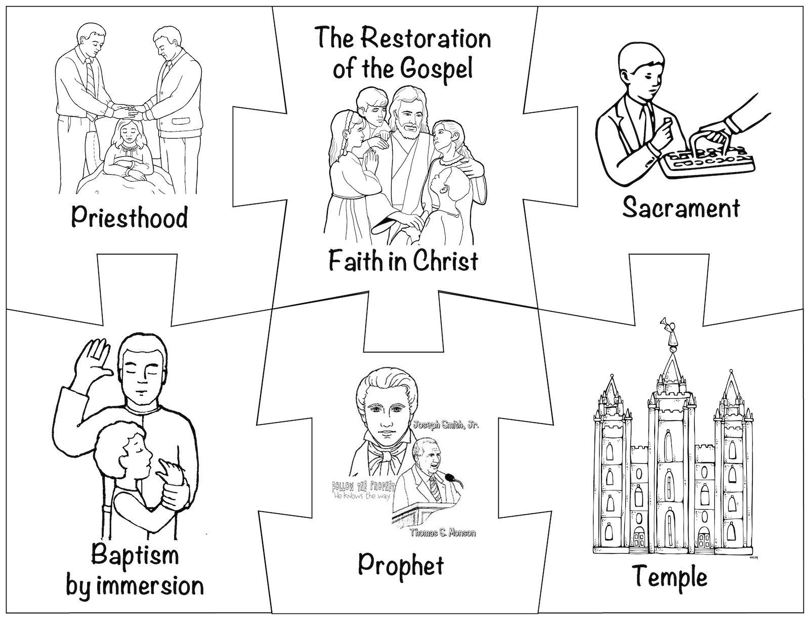 Mormon Share Restoration Puzzle