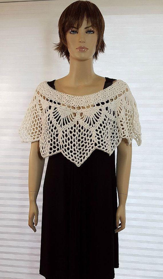 top design migliore online presentazione Crochet Poncho, scialle all'uncinetto, Crochet Shrug, scialle ...