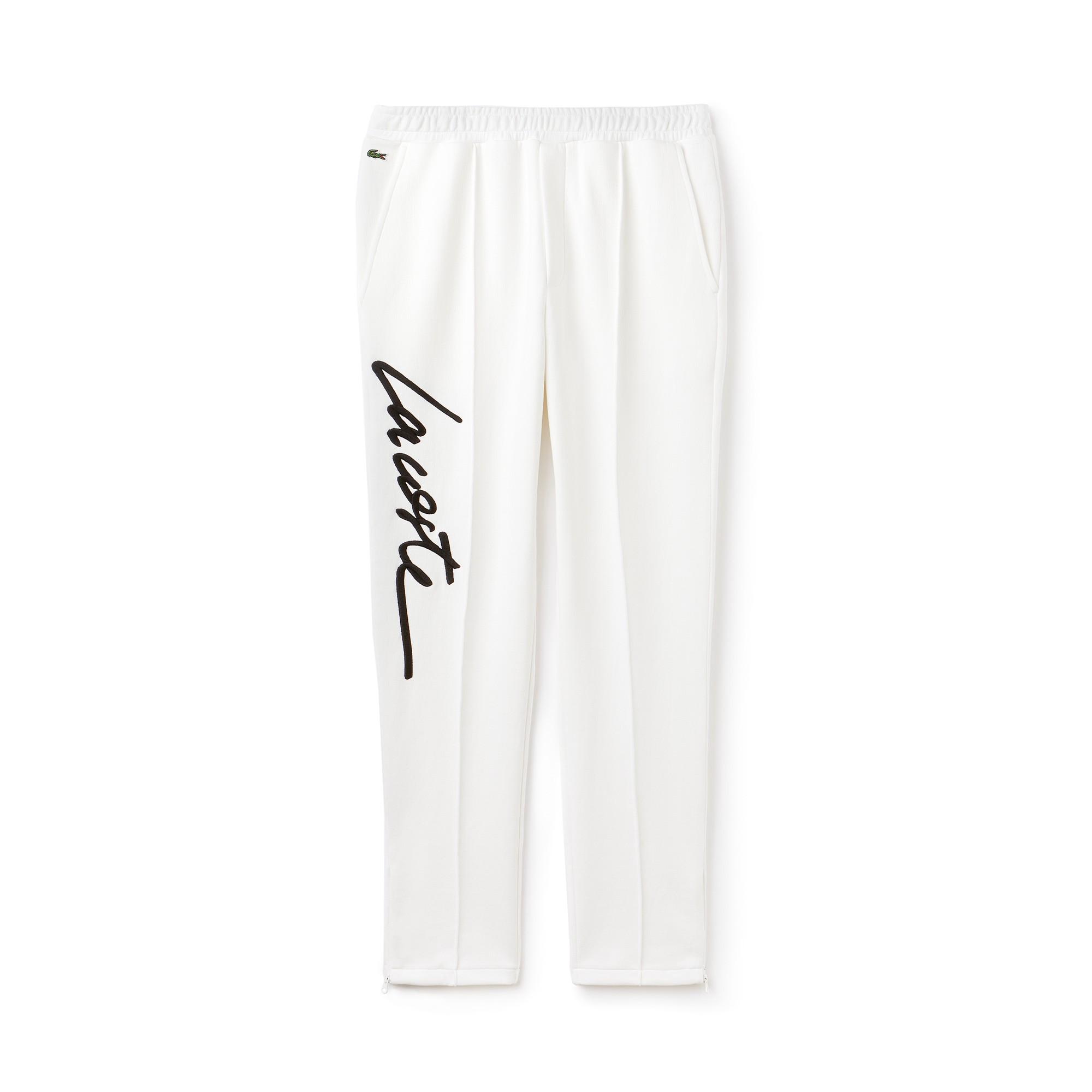 7b9cb926e0 Lacoste Unisex Live Embroidered Fleece Urban Jogging Pants - Flour ...
